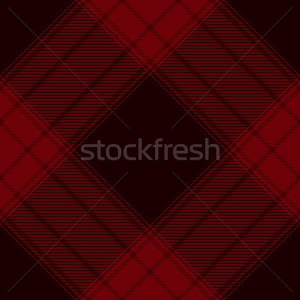 Tartan inspired red and black abstract geometric vector seamless pattern background Stock photo © sanjanovakovic