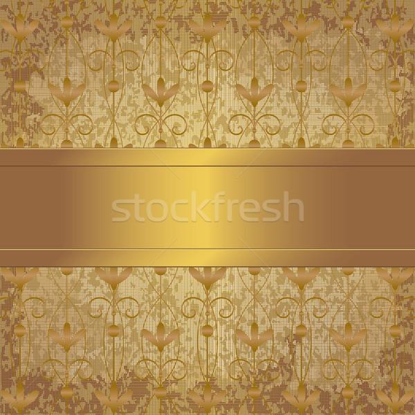 Bağbozumu altın şerit model Metal Stok fotoğraf © sanjanovakovic