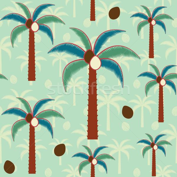 Decorativo palmeras vector naturaleza mar Foto stock © sanjanovakovic