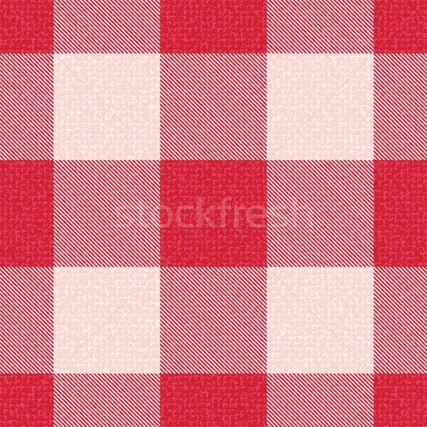 Red textured gingham inspired pattern background 1 Stock photo © sanjanovakovic