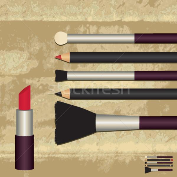 Make-up objetos arquivo inteiro textura Foto stock © sanjanovakovic