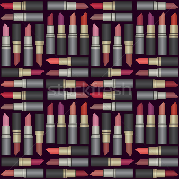 Vector seamless pattern background with colorful lipsticks Stock photo © sanjanovakovic