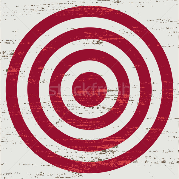 Vintage red target on white scratched background Stock photo © sanjanovakovic