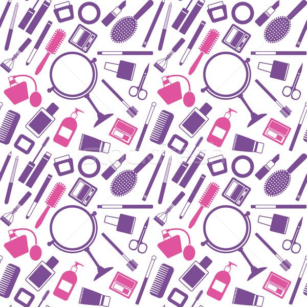 Vektör kozmetik nesneler kadın Stok fotoğraf © sanjanovakovic