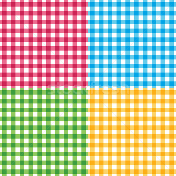 Vector gingham seamless pattern in four different colors Stock photo © sanjanovakovic