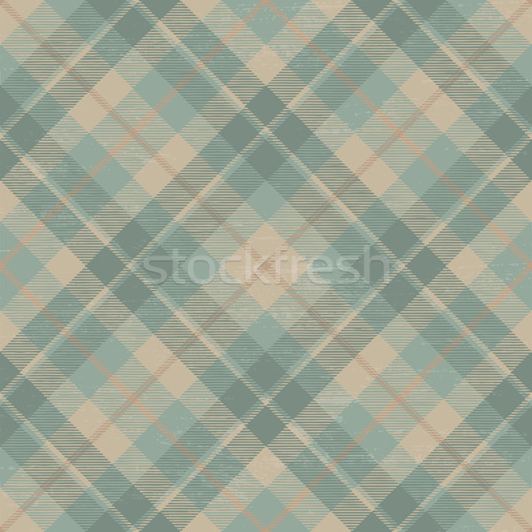 Tartan inspired grunge diagonal plaid pattern background 10 Stock photo © sanjanovakovic