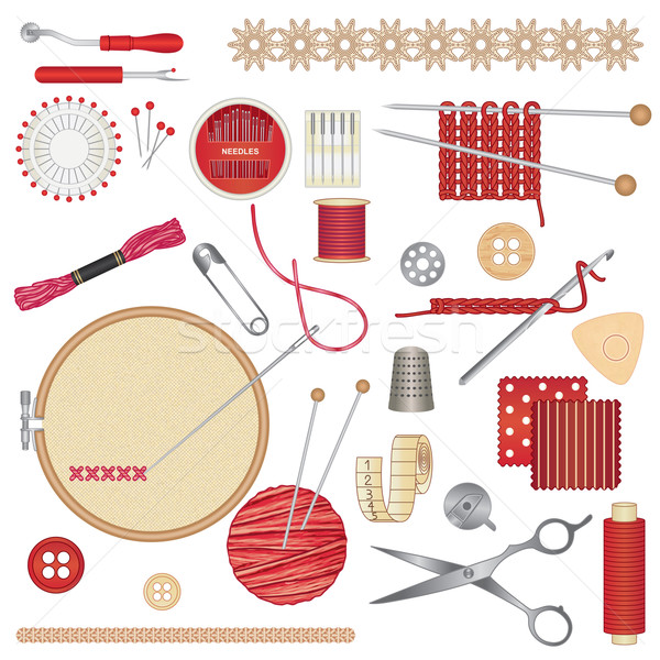 Sewing and needlework accessories 1 Stock photo © sanjanovakovic