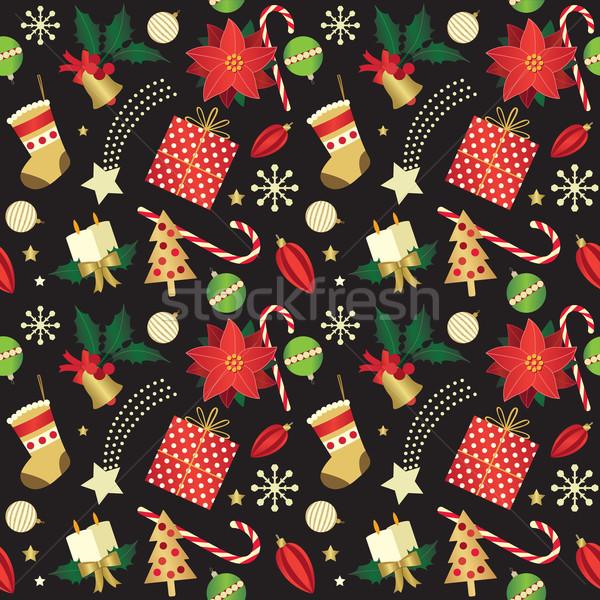 Elegant Christmas seamless background Stock photo © sanjanovakovic