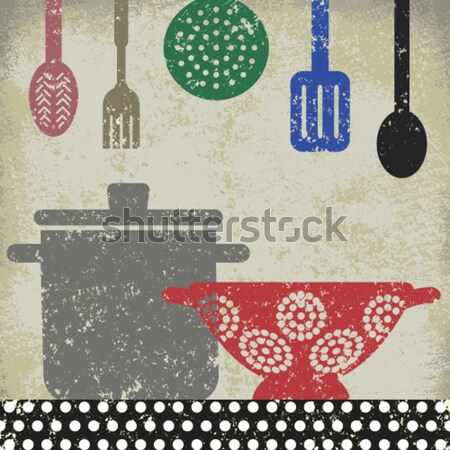 Stock photo: Vintage cosmetic poster 2