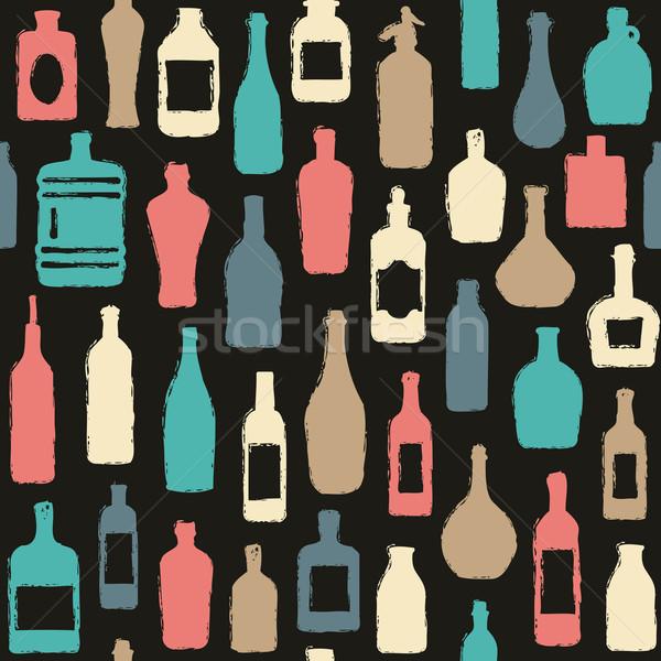 şişeler vektör bar Stok fotoğraf © sanjanovakovic
