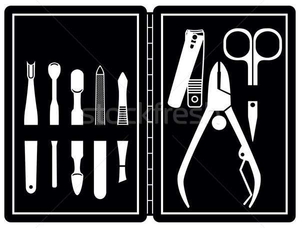 маникюр педикюр вектора женщину инструменты Сток-фото © sanjanovakovic