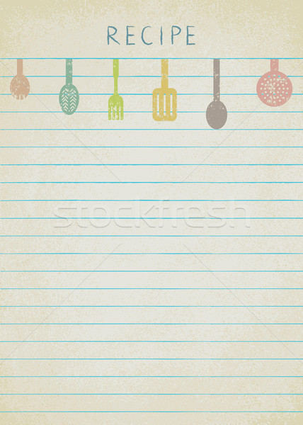 Vintage background for cooking recipes 2 Stock photo © sanjanovakovic