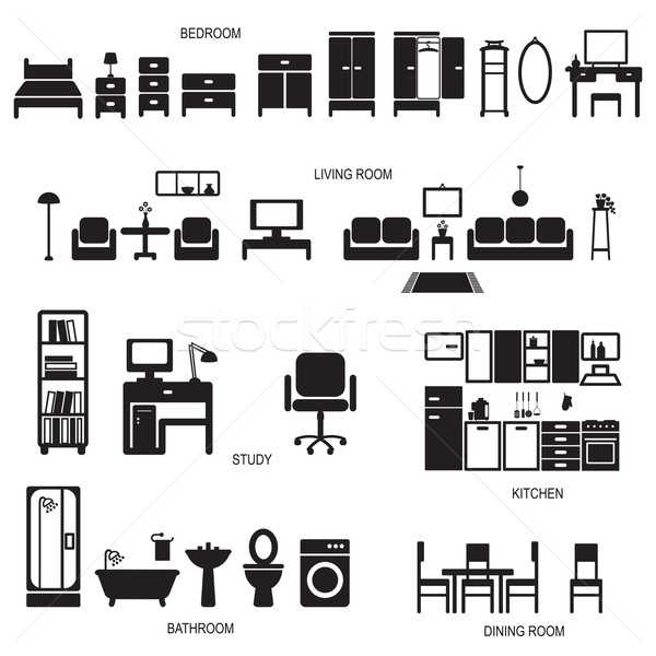 Home related icons 1 Stock photo © sanjanovakovic
