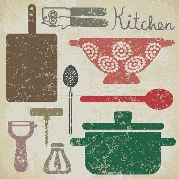 Vintage cooking related poster 6 Stock photo © sanjanovakovic
