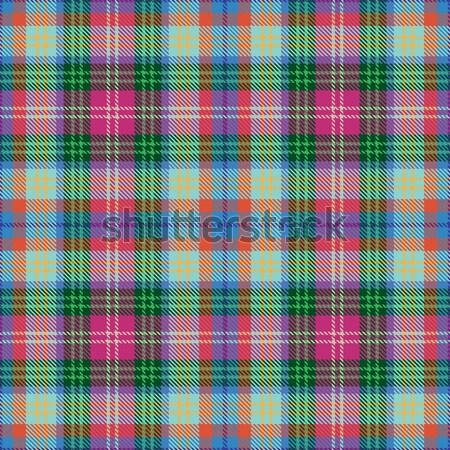 Colorful vector plaid tartan seamless pattern background Stock photo © sanjanovakovic