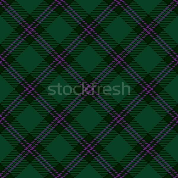 Green tartan diagonal seamless pattern background Stock photo © sanjanovakovic