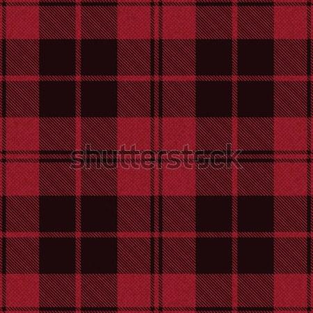 Red plaid tartan fabric 2 Stock photo © sanjanovakovic