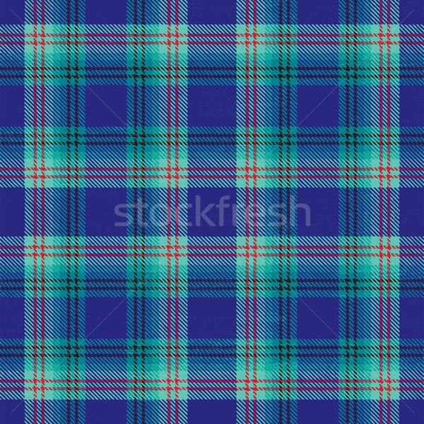 Blue vector tartan pattern background Stock photo © sanjanovakovic