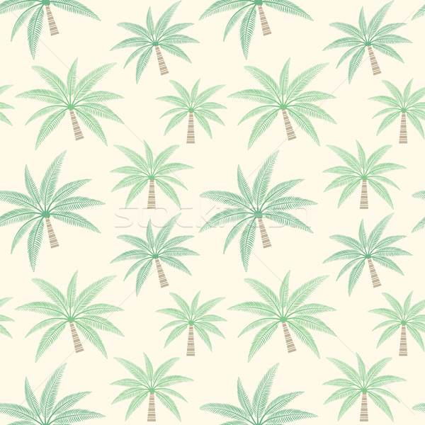 Palm tree vector seamless pattern background Stock photo © sanjanovakovic