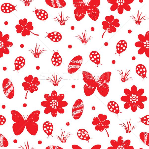 Nature inspired vintage seamless pattern Stock photo © sanjanovakovic