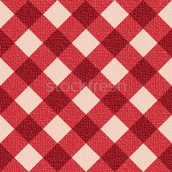 Mantel rojo blanco restaurante textura Foto stock © sanjanovakovic