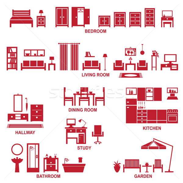 Home related icons 2 Stock photo © sanjanovakovic