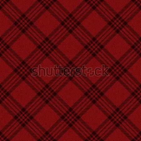 Red textured plaid tartan diagonal pattern background Stock photo © sanjanovakovic