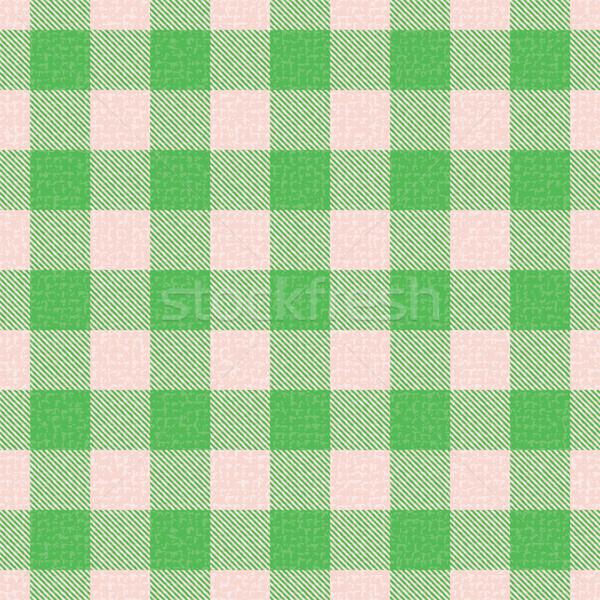 Green textured plaid gingham vector pattern background Stock photo © sanjanovakovic