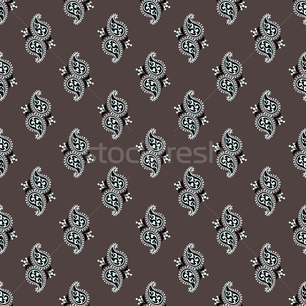 Seamless paisley pattern Stock photo © sanyal