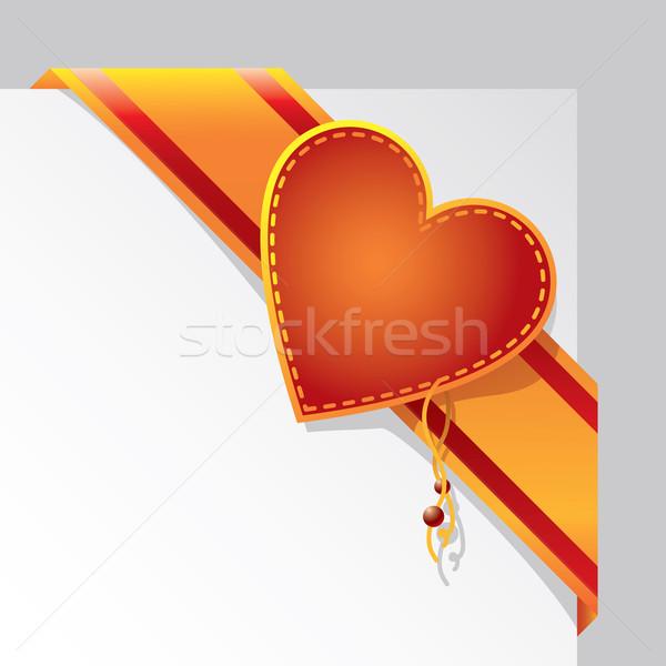 Valentin coeur signe pavillon couleur carte Photo stock © sanyal