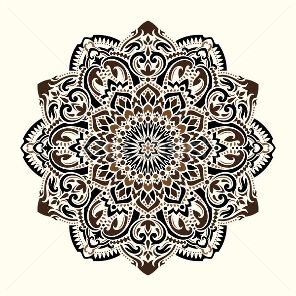 Mandala etnica motivi ornamento pattern vintage Foto d'archivio © sanyal