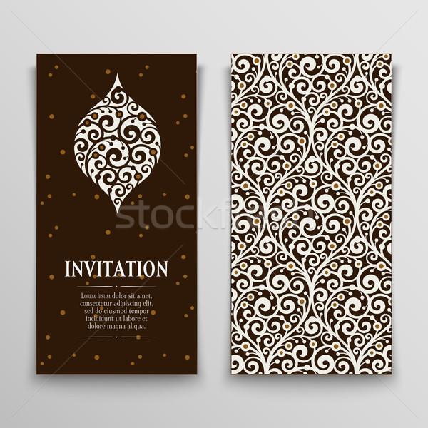set of greeting cards Stock photo © sanyal