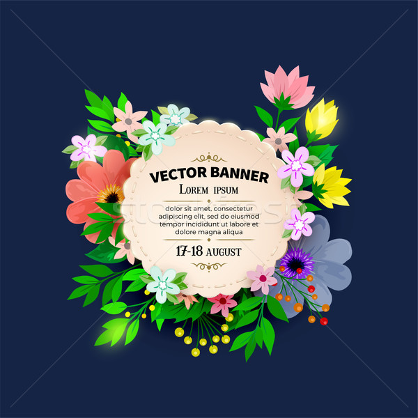 Floral cadre design vintage couvrir Photo stock © sanyal