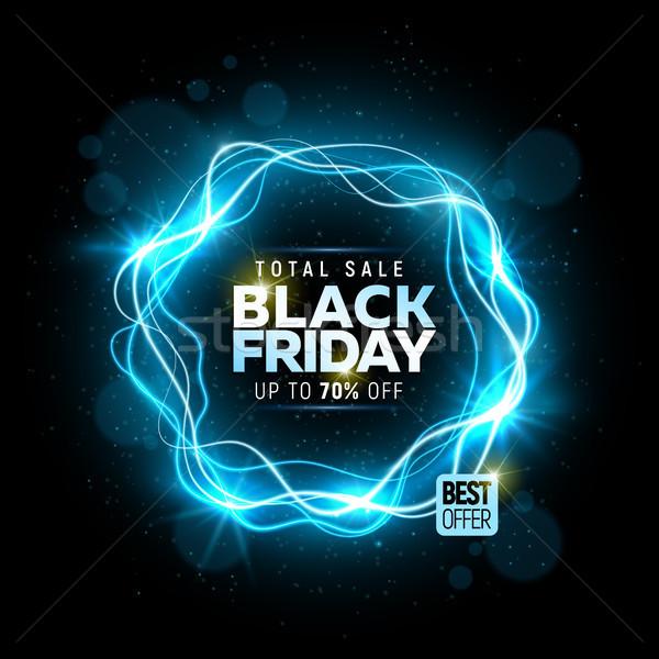 Black friday venda bandeira brilhante assinar teia Foto stock © sanyal