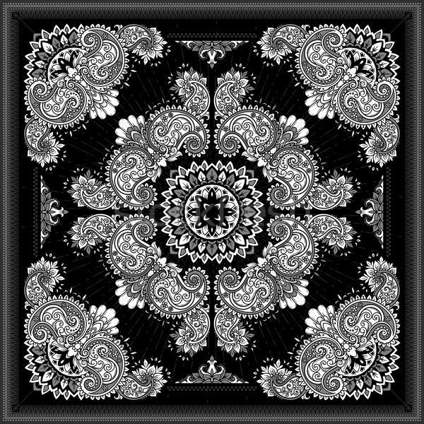 Imprimer vecteur ornement soie cou Photo stock © sanyal