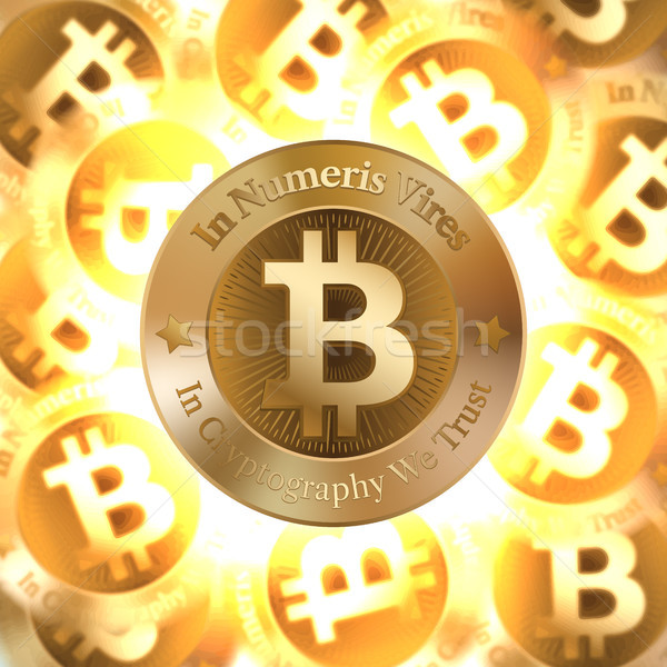 Lune stylisé vecteur image bitcoin forme Photo stock © sanyal