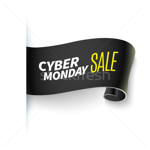 черная пятница продажи лента реалистичный бумаги баннер Сток-фото © sanyal