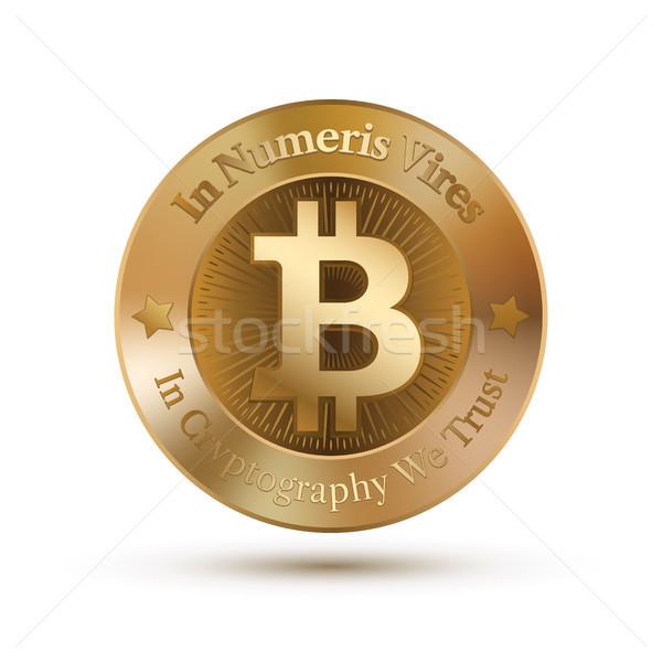 Hold stilizált vektor kép bitcoin űrlap Stock fotó © sanyal