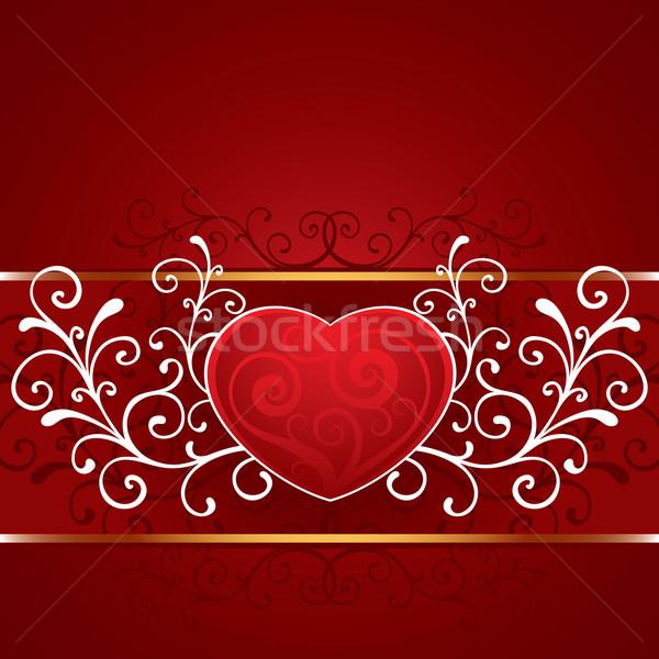 Valentin nap szív szépség kártya gyönyörű modern Stock fotó © sanyal