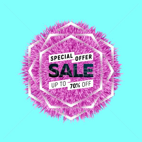 Satış parlak afiş moda alışveriş pazar Stok fotoğraf © sanyal