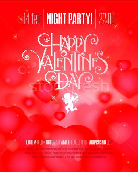 Валентин день Flyer вечеринка стороны Сток-фото © sanyal