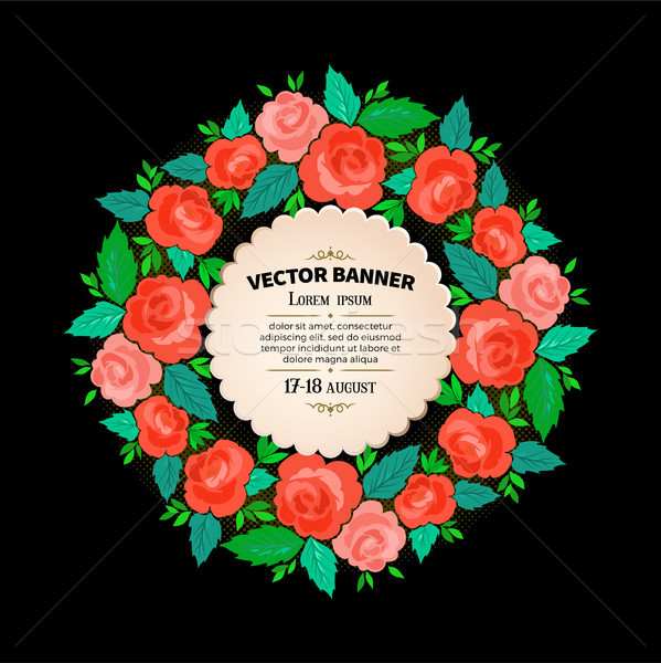 フローラル フレーム デザイン 花束 ヴィンテージ カバー ストックフォト © sanyal