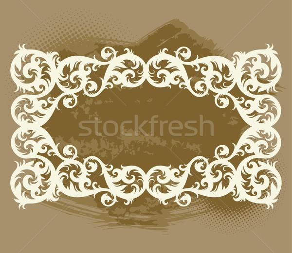 vintage template frame Stock photo © sanyal