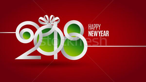 Yeni yıl kâğıt tebrik kartı mutlu soyut Stok fotoğraf © sanyal