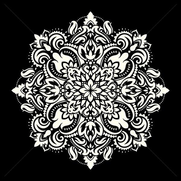 мандала этнических Мотивы орнамент шаблон Vintage Сток-фото © sanyal