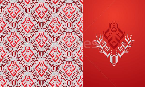 цветочный обои бесшовный орнамент модный современных Сток-фото © sanyal