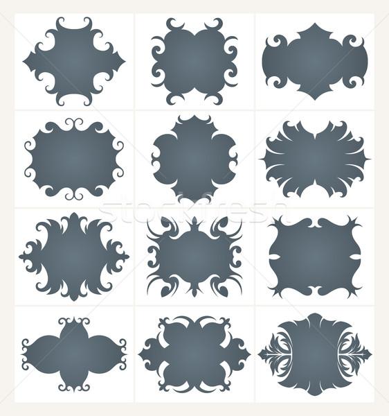 çerçeve ayarlamak toplama dizayn vektör kareler Stok fotoğraf © sanyal