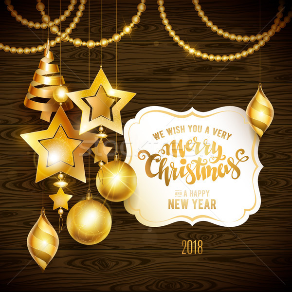 Merry Christmas gold Stock photo © sanyal