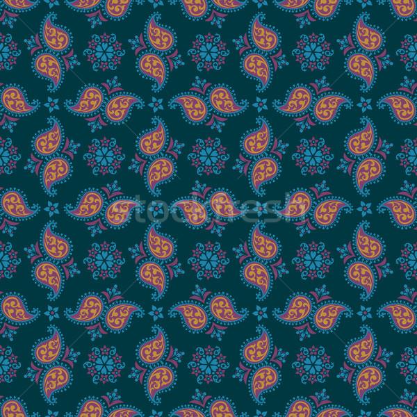 Seamless paisley pattern Stock photo © sanyal