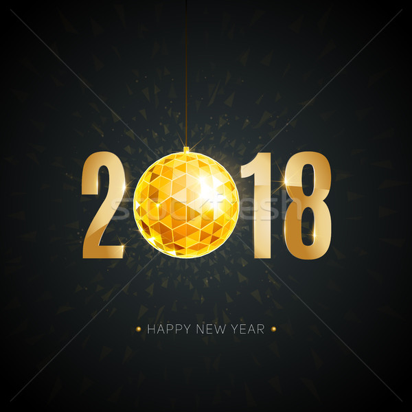 Boldog új évet arany elemek gradiens szín karácsony Stock fotó © sanyal